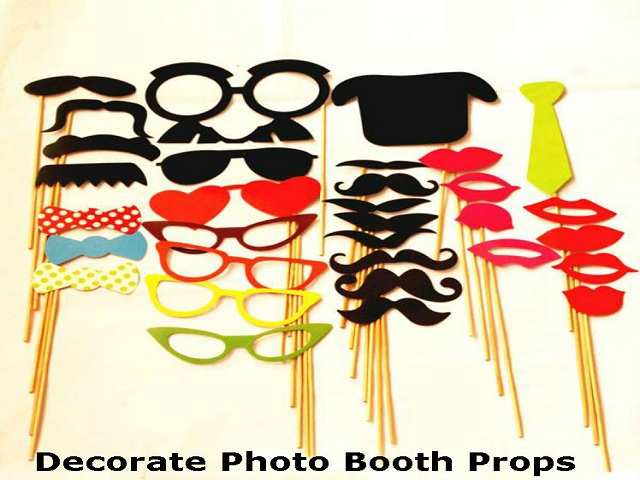 Decorate Photo Booth Props