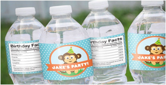 water bottle with Personalized name sticker