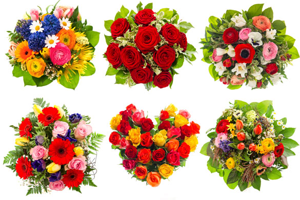 Different-shaped-bouquets