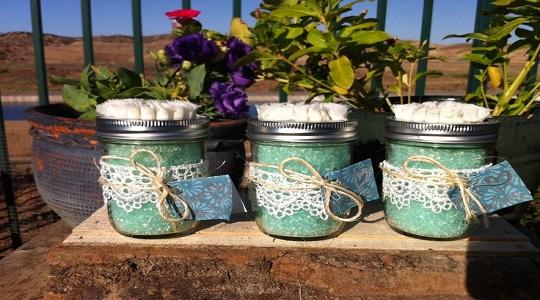 Mini Mason Jar Bath Salts
