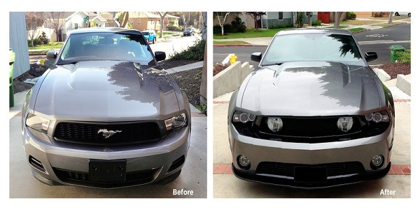before and after modification