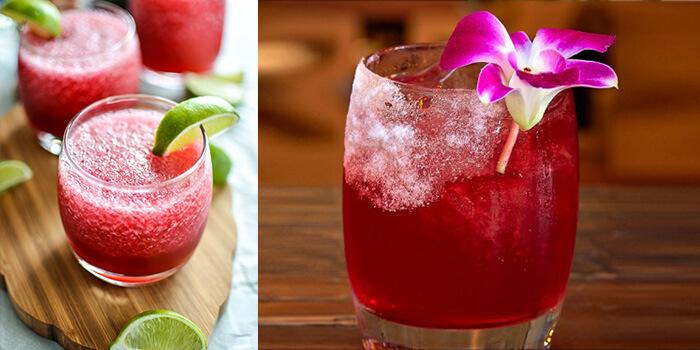 Frozen Hibiscus Margaritas