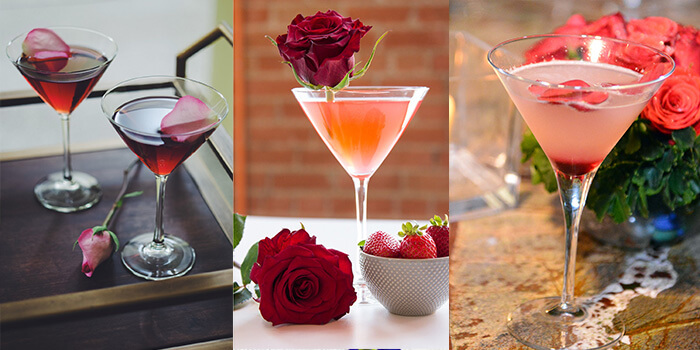 Rose martini Cocktail