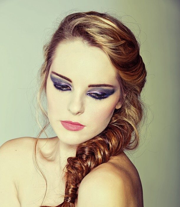 Side braid with a prodded crown