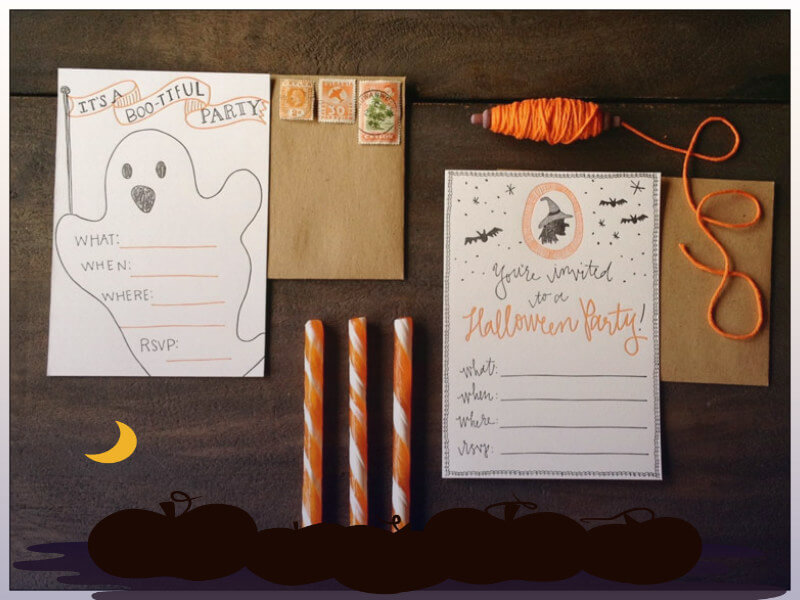 halloween party diy invitation