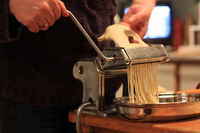 homemade pasta maker