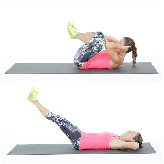 Knee to Elbow Crunches
