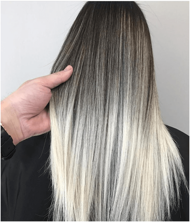 Platinum Ombre Hairstyle