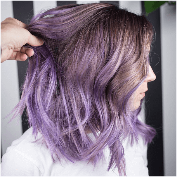 Pretty Purple Ombre Hair