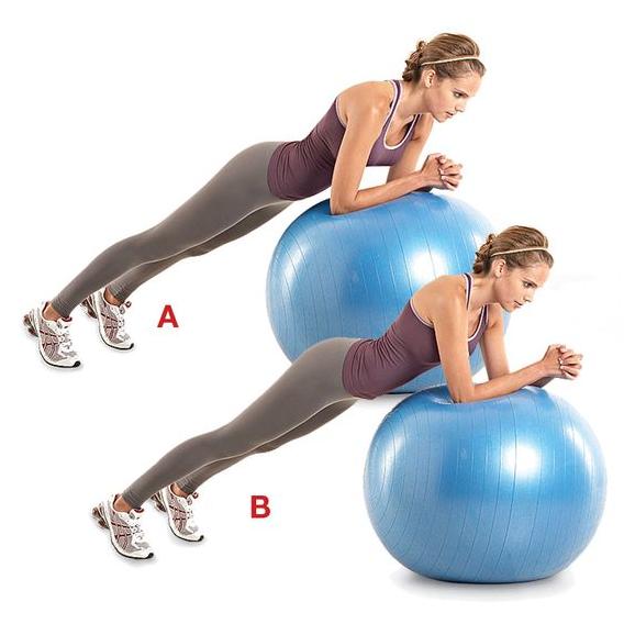 Stability Ball Forearm Plank