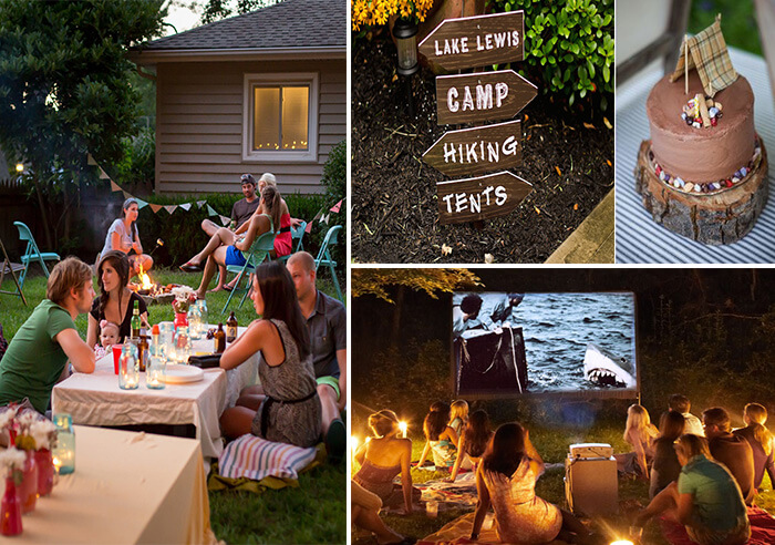 Host Backyard Camp Out Theme Party