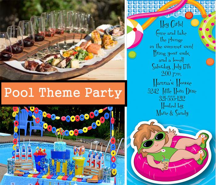 Pool theme party