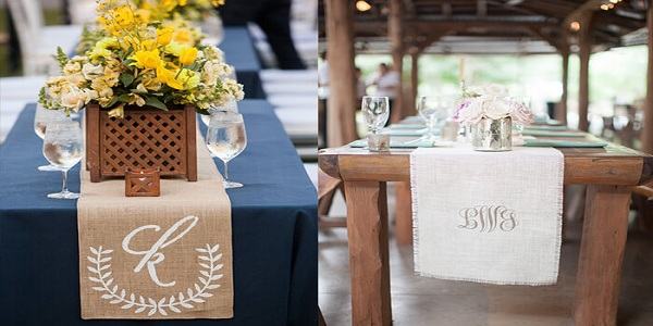 Elegant Monogram Themed Wedding Decoration Ideas Meetrv Personalized Reception Table Runners