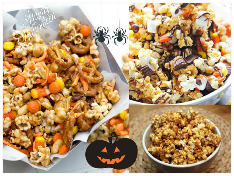 caramel peanut popcorn snack mix