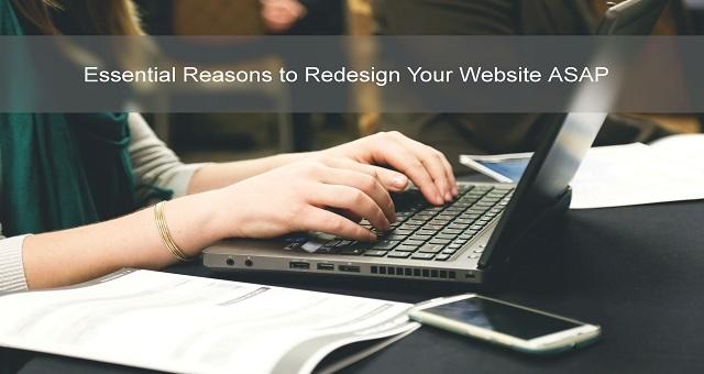 redesign website asap