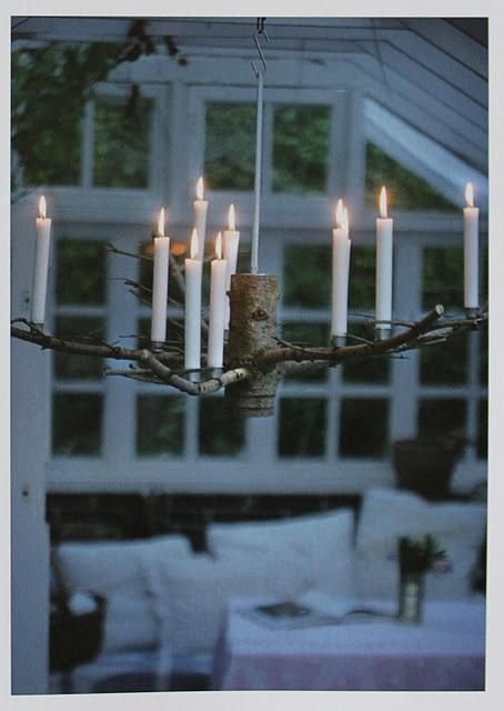 cool candelabra from christmas tree