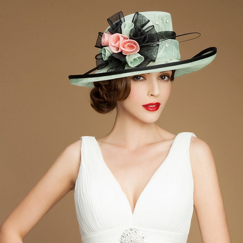 Faux Flower Party Hats
