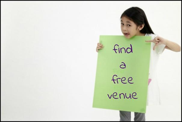find a free venue