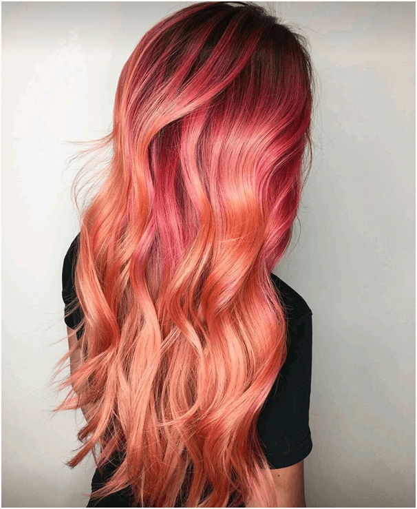 Two-Toned Red Ombre