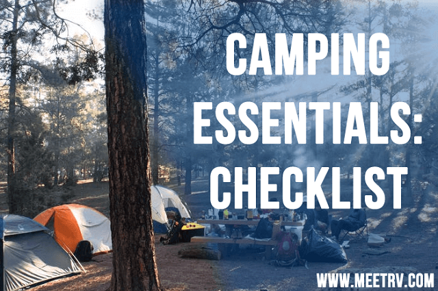 Camping Essential Checklist