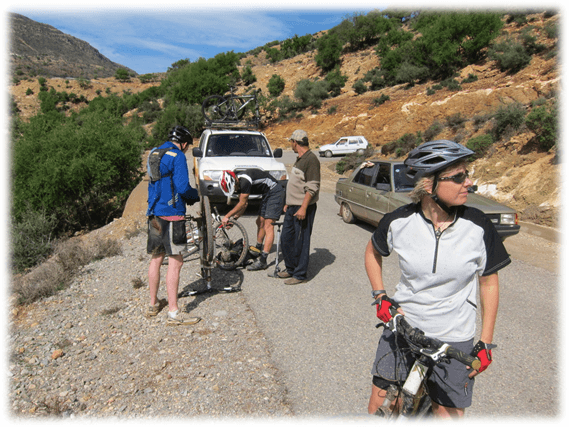 Mountain biking in The Jbel Saghro or Djebel Sahrho