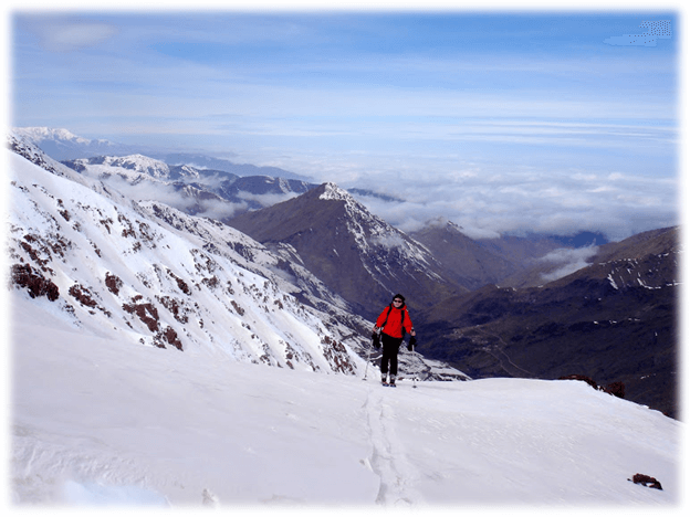 Skiing in the Central High Atlas