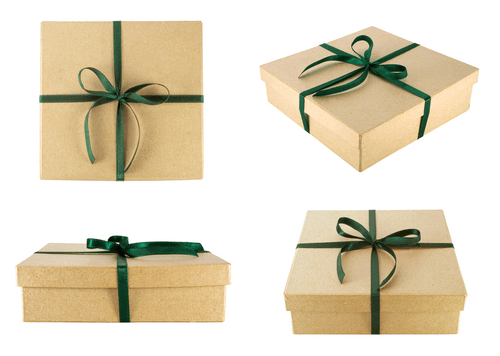 Green and Brown Gift Wrap