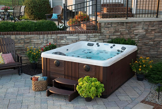 Design Backyard Around Hot Tub