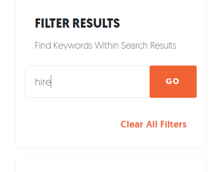 filter results