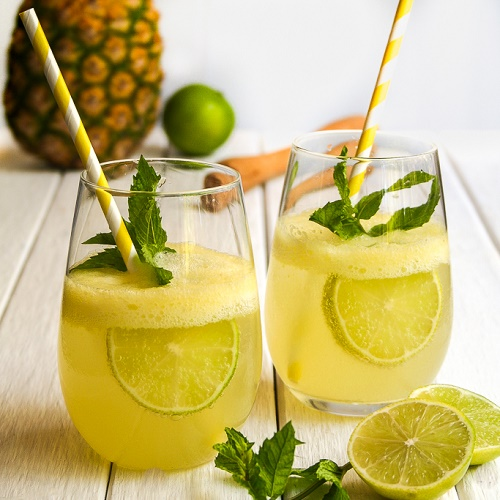 Lemon, Mint, Ginger and Pineapple