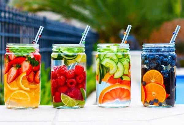 Naturally Flavored Fruit & Herb Detox Water
