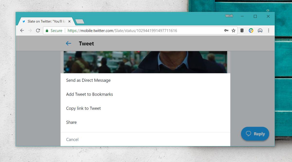 Bookmark Tweets from the Twitter desktop website