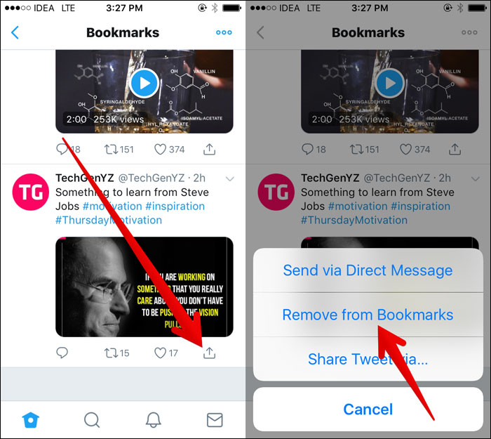 How to Remove Saved Tweets from Bookmarks