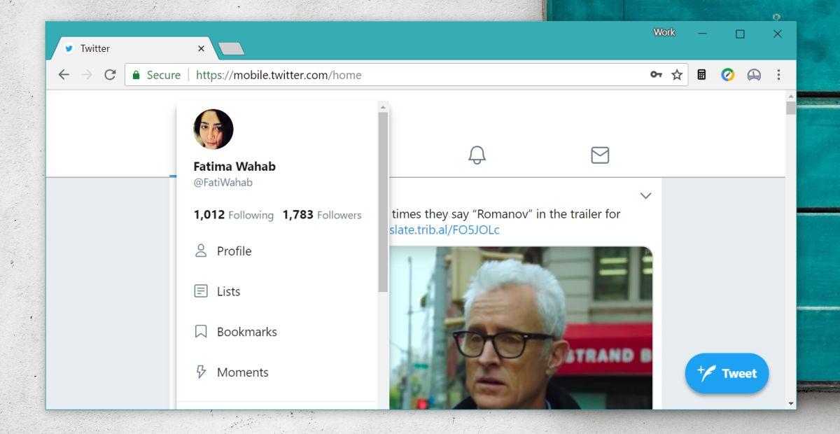 Viewing Bookmark in Twitter desktop website