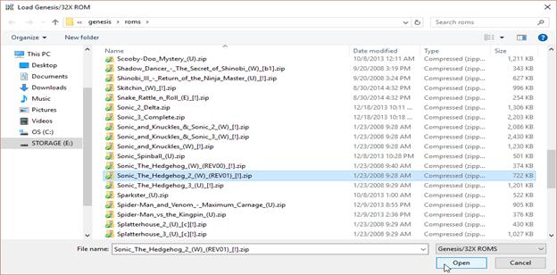 installing Kega fusion emulator