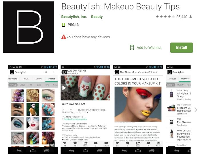 Beautylish (for Android and iOS)