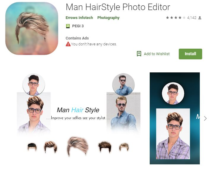 Man Hairstyle Photo Editor (Android)