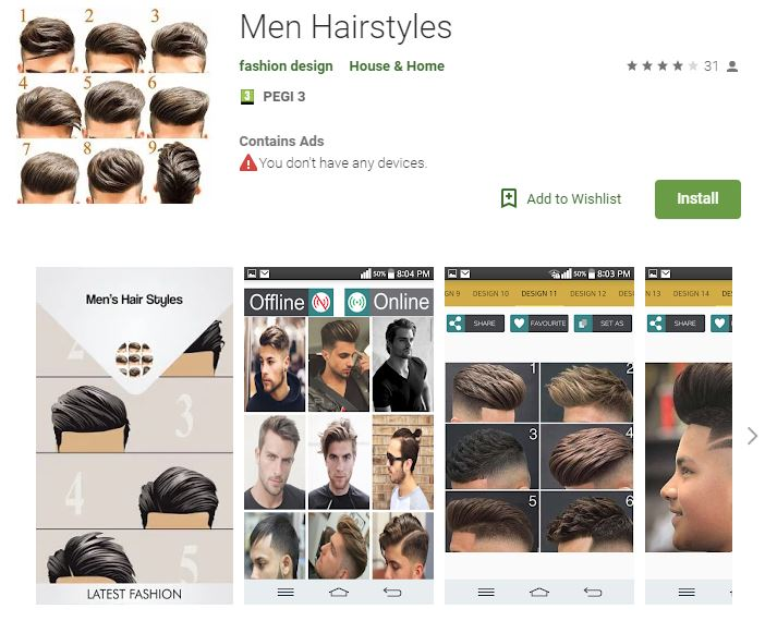 Men Hairstyle (Android)