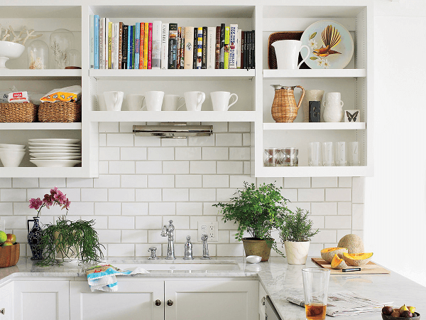 Make a considerable measure of open shelving