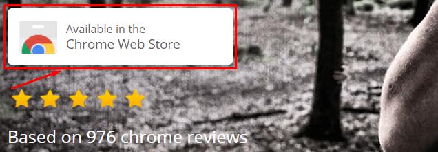 Chrome Webstore button