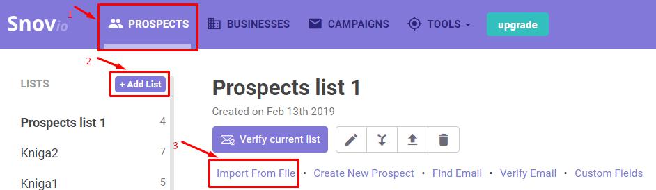 Verify current list