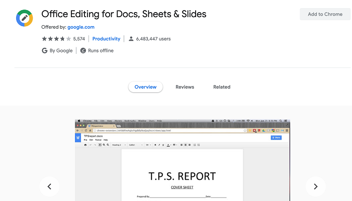 Office Editing for Docs