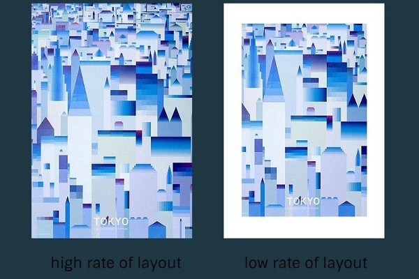 influence of layout rate on the temperament of the picture