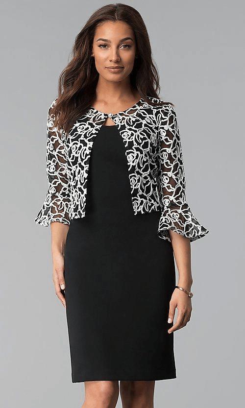 Jacket-Style Short Dresses