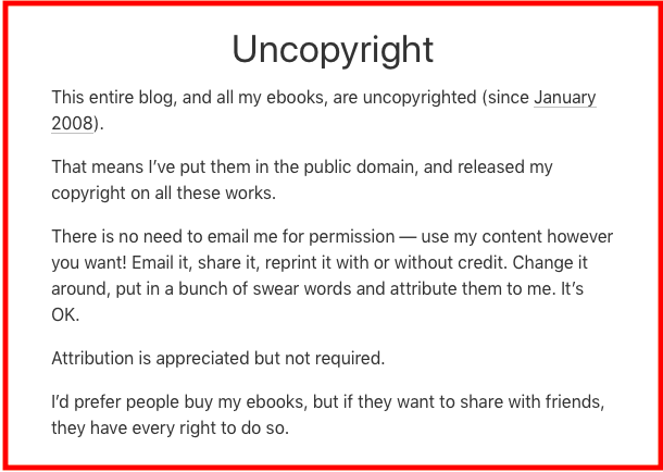 Uncopyright