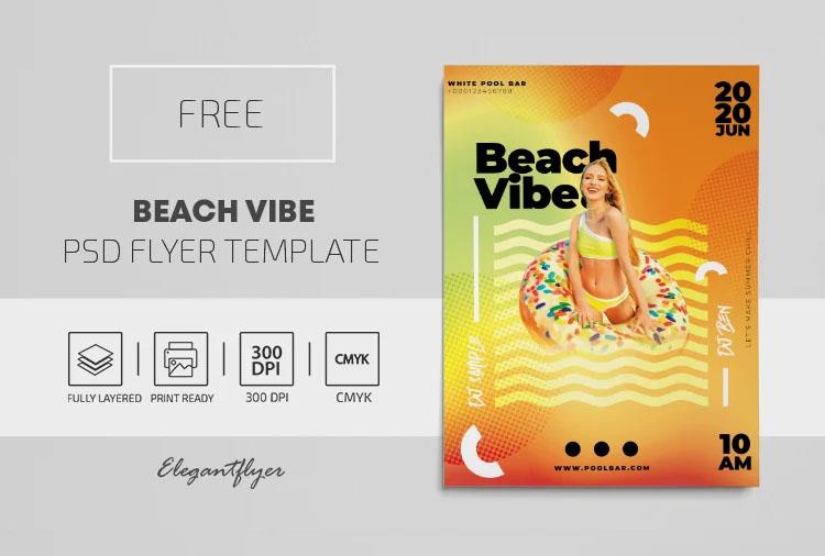Beach Vibe – Free PSD Flyer Template