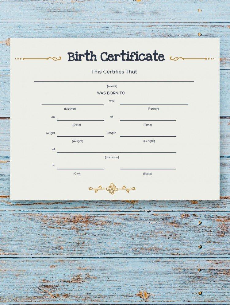 Birth Certificate – free Google Docs Template