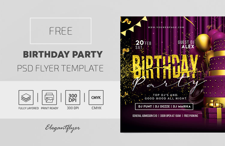 Birthday Party – Free PSD Flyer Template