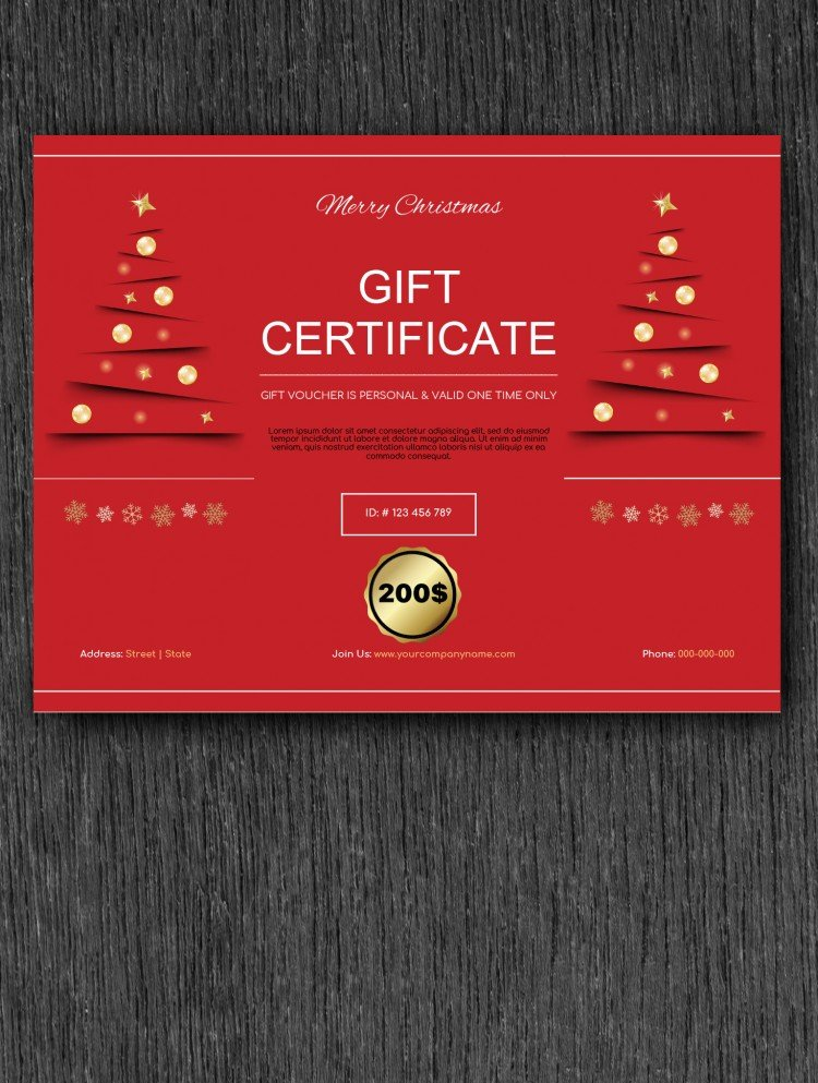 Christmas Gift Certificate – free Google Docs Template