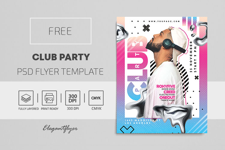 Club Party – Free Flyer PSD Template (2)